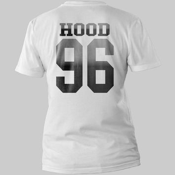 Calum Hood 96 date of birth 5sos Printed Back Logo Black and White Shirt Men or Women Shirt Unisex Size