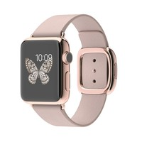 Apple Watch Edition 38mm 18-Karat Rose Gold Case with Rose Gray Modern Buckle - Small