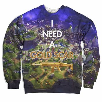 Gold Scar Addict Sweater