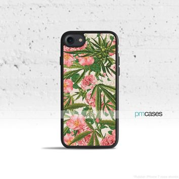 Cannabis Floral Phone Case Cover for Apple iPhone iPod Samsung Galaxy S & Note