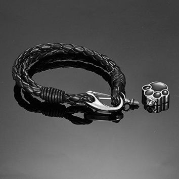 HooAMI Pet Dog Paw Charm Memorial Urn Keepsake Ashes Bracelet Cremation Jewelry