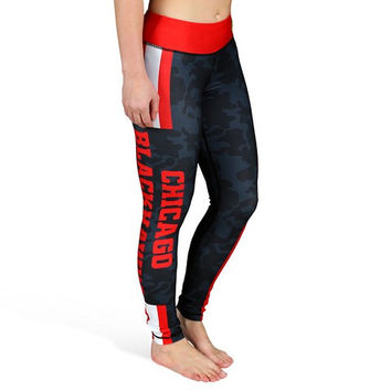 Chicago Blackhawks Official NHL Stripe Leggings