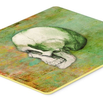 Day of the Dead Green Skull Kitchen or Bath Mat 24x36 BB5122JCMT