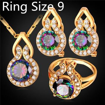 18K Infused Sterling Silver Mystic Topaz Sets