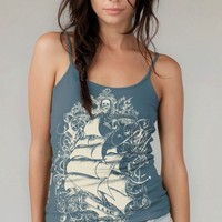 $21.00 Sailing Ship Organic Cotton Tank Top Earth by banyantreeclothing