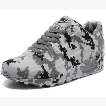 """NIKE"" Trending Fashion Personality Camouflage Casual Sports Shoes Grey"