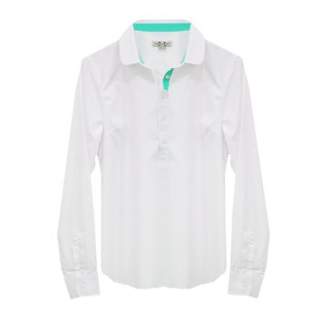 Popover Shirt with Aqua Lining