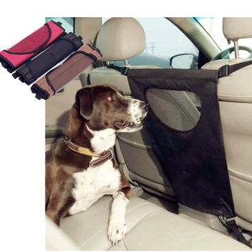 72x37cm Universal Pet Dog Barrier Mesh Car SUV Safety Travel Back Seat Gate Net Barrier