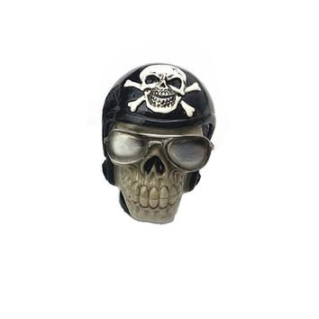 Car Auto Skull Pilot Gear Shift Knob lever Stick Gears Rally Racing Shifter for Manual Transmission Cars