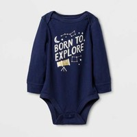 Baby Boys' 'BORN TO EXPLORE' Bodysuit - Cat & Jack™ Nightfall Blue