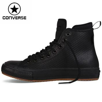 DCKL9 Original New Arrival 2016 Converse chuck II boots Unisex Skateboarding Shoes leather S