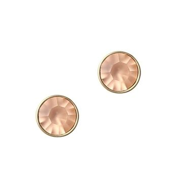 ROSALIE STUDS IN PEACH