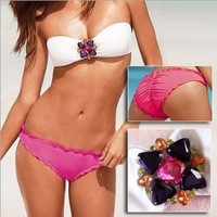 Fashion Underwear Women Sexy Set Push Up Strapless Bikini Beach Wear ! 3041