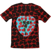 Nirvana Men's  Heart Shaped Box Dye Mens T Over Dyed T-shirt Maroon