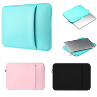 "Solid Neoprene Laptop Case Sleeve Bag Notebook Puch for Macbook Pro Retina 15. 4 "" 15.6 "" 15 "" For ASUS  ACER HP DELL for Lenovo"