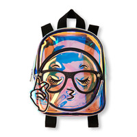 Girls Clear Iridescent Emoji Mini Backpack | The Children's Place