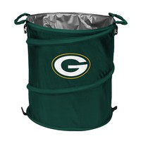 Logo Chair Green Bay Packers Collapsible 3-in-1 Trashcan Cooler