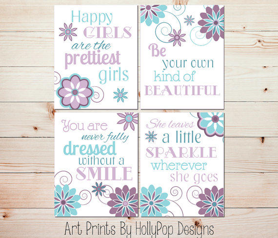 Nursery Ideas And Décor To Inspire You: Purple Teal Girls Room Decor She Leaves A From HollyPop