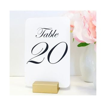 Table Number Holder, 2 inch, Set of 15, For Weddings, Restaurants, Banquets, GOLD, by Gallery360Designs