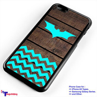 batman mint chevron - Personalized iPhone 7 Case, iPhone 6/6S Plus, 5 5S SE, 7S Plus, Samsung Galaxy S5 S6 S7 S8 Case, and Other