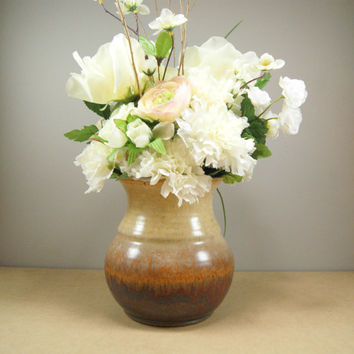 Heavy Metal vase, pottery utensil holder, ceramic vase, pottery flower pot, utensil crock