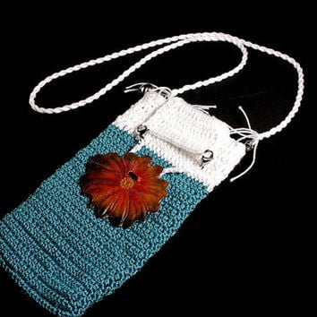 Crochet Shoulder Pouch Samsung Galaxy s6 Cell Phone Case
