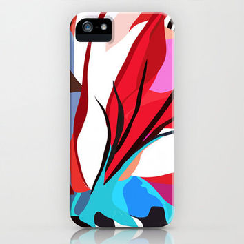 iphone 5 case, red, white and blue cell phone case,art deco phone case