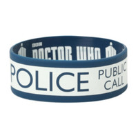 Doctor Who TARDIS Rubber Bracelet