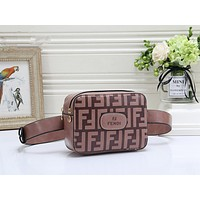 FENDI Fashion Women Shopping Leather Chain Bag Crossbody Satchel