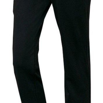 Foucome Maternity Work Pants Ove Belly High Waist Straight Leg Formal Pregnancy Trousers Black