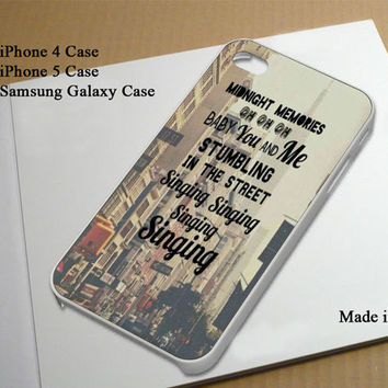 One Direction Midnight Lyric Best Seller Phone Case on Etsy for iPhone 4, iPhone 4s, iPhone 5 , Samsung Galaxy s3 and Samsung Galaxy s4