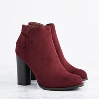 Johanna Cylinder Heel Ankle Boot by GuiltySoles | Booties | rue21