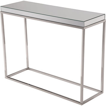 "Contempo 42""x14""x32"" Mirrored Console Table"