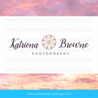 OOAK Premade Logo Design - Sun Handwritten - Perfect for a family photographer or a jewelry artist