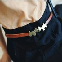 Kissing Puppies Fashion Belt | LilyFair Jewelry