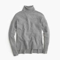 Relaxed Wool Turtleneck With Rib Trim : Women's Sweaters | J.Crew
