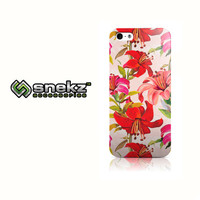 Red Flowers Design iPhone 4 4s, iPhone 5/5s, Iphone 5c Hard Case Cover