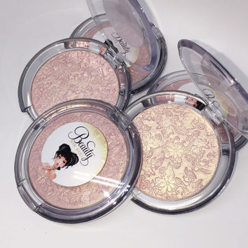 JUMBO Pretty in Pink Pressed Highlighter Face & Eye Highlight Powder