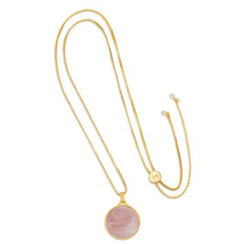 Kelsey Necklace in  Pink Mussel Shell