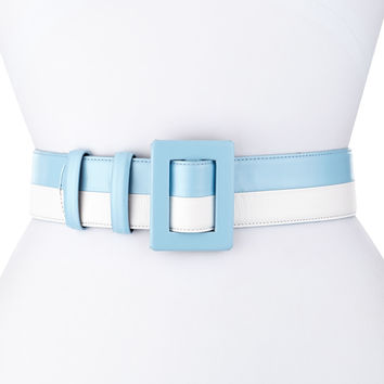 Two-Tone Leather Belt,