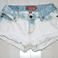 Bleached Hipster White Dip Dyed Shorts
