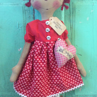 Valentine's Day gifts be mine Raggedy Annie Dolls