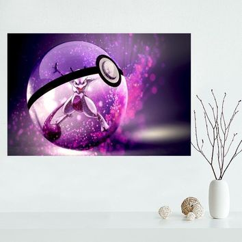 Custom  canvas poster Home Decoration Wall Art New arrival cloth Silk Fabric wall poster printKawaii Pokemon go  AT_89_9