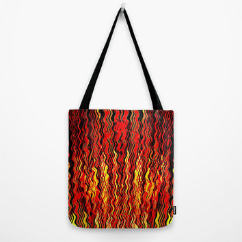Hell's Gate Tote Bag by Fringeman Abstracts | Society6