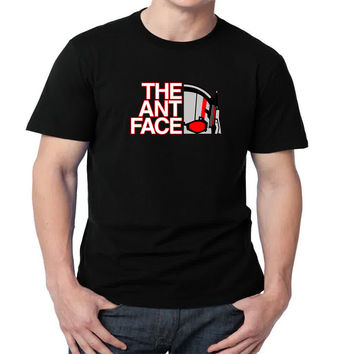 The Ant Face Mens T-shirt Black and White