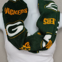 Green Bay Packers NFL Super Soft Fleece One Loop Infinity Scarf/Cowl