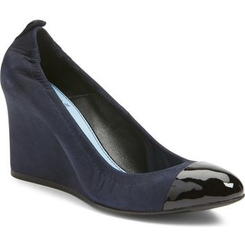 Lanvin Scrunch Cap Toe Wedge Pump (Women) | Nordstrom