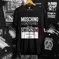 New T-shirt Moschino Couture Milano Size S-2XL