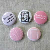 "The 1975 Pinback 1"" Buttons 5-Pack Pins"