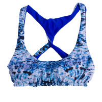 Reversible Waterfall Volley Sports Bra Bikini Top